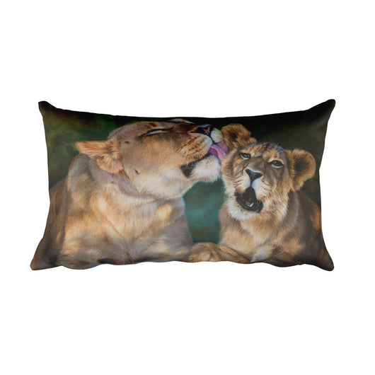 lions decorative pillow by James Corwin