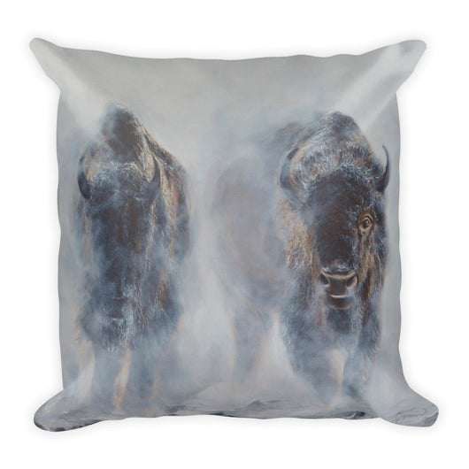 bison decorative pillow by james corwin art