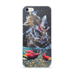 sockeye salmon alaska brown bear fish iphone case apple by james corwin fine art wildlife artist