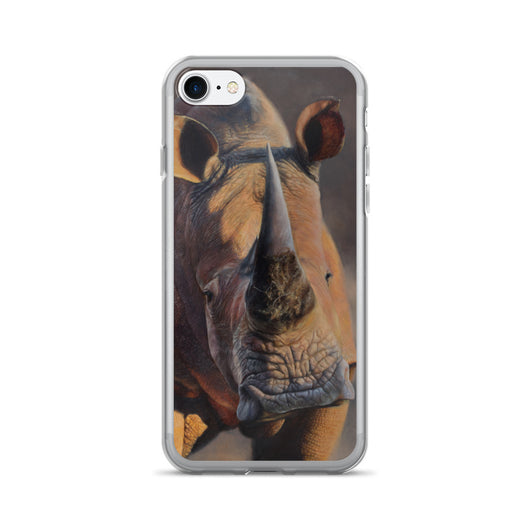 roger rhino africa iphone case apple by james corwin fine art wildlife artist