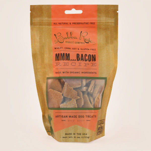 "Bubba Rose ""MMM...Bacon"" Gluten Free Dog Biscuits"