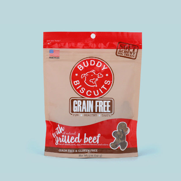 Buddy Biscuits Grain-Free w/ All Natural Grilled Beef, 5 oz.