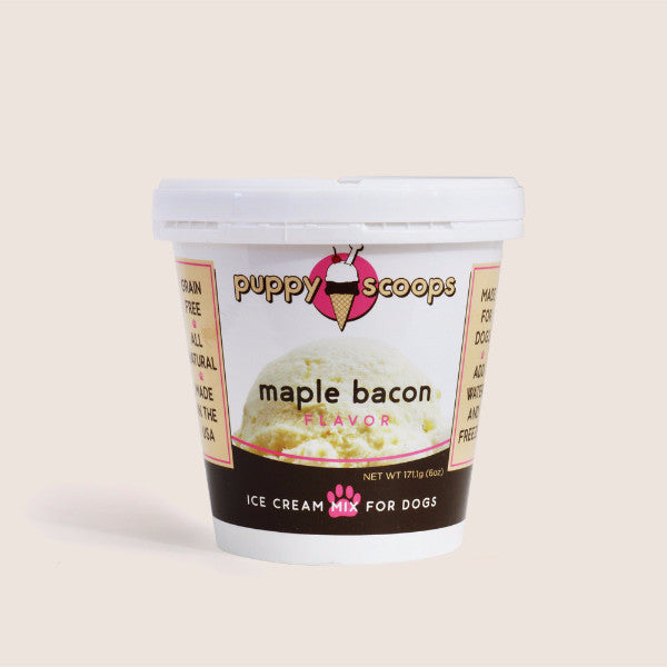 Puppy Scoops Maple Bacon Dog Ice Cream