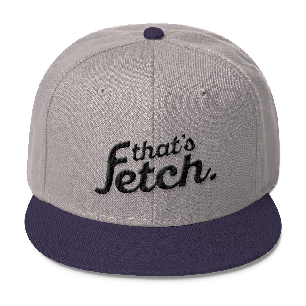 That's Fetch Wool Blend Snapback - Dark Text (Gray/Purple)