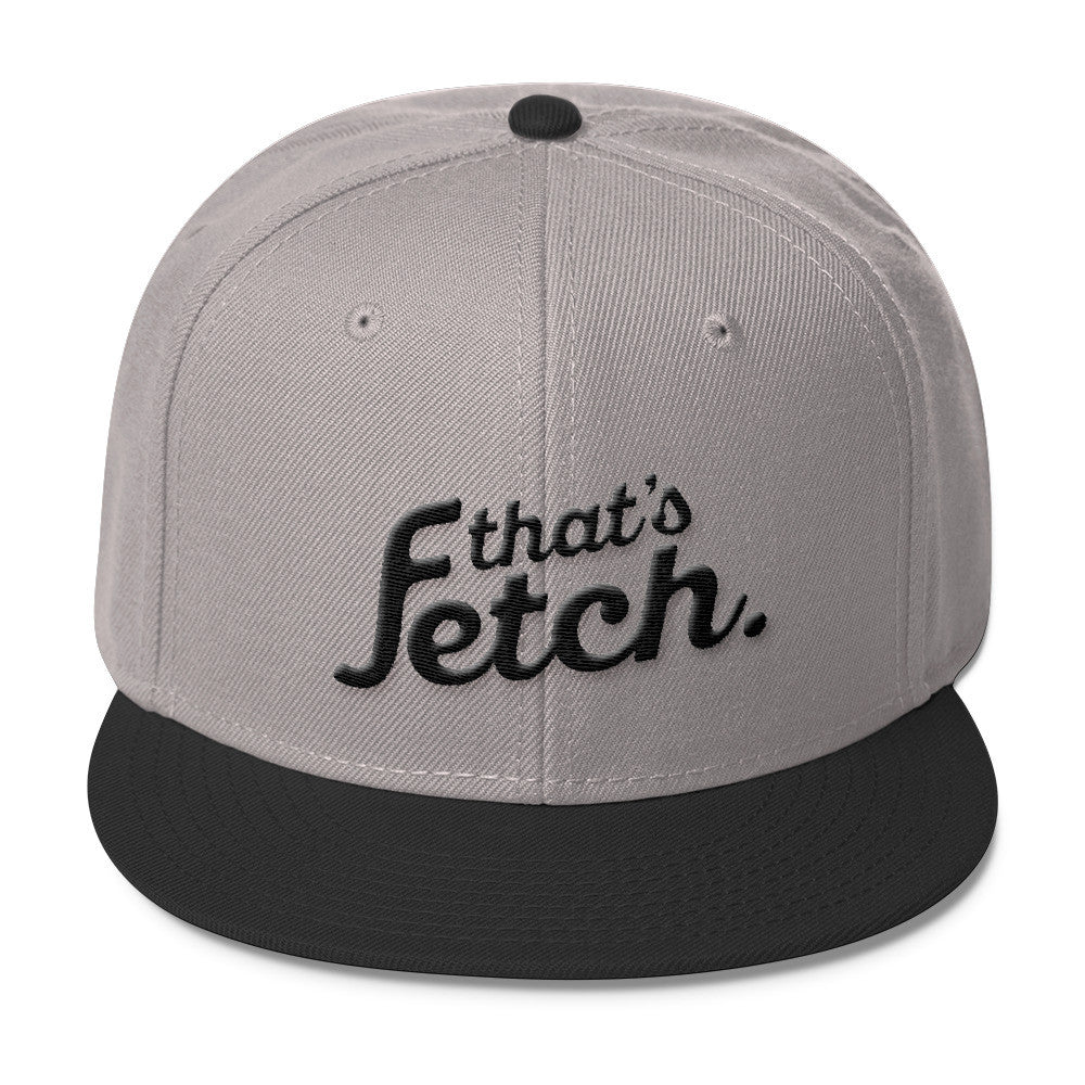 That's Fetch Wool Blend Snapback - Dark Text (Light Gray/Black)