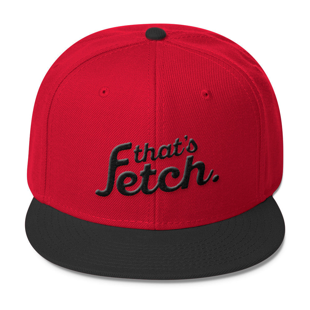 That's Fetch Wool Blend Snapback - Dark Text (Red/Black)