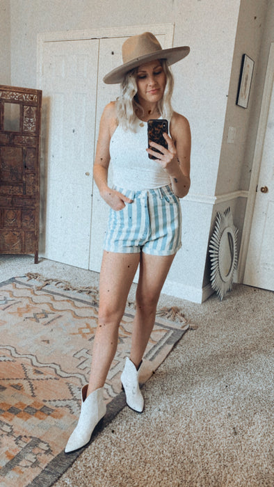90's Vibes Striped Shorts