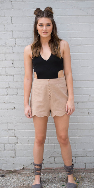 Scalloped Shorts