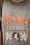 Vintage Coors Light Burnout Tee