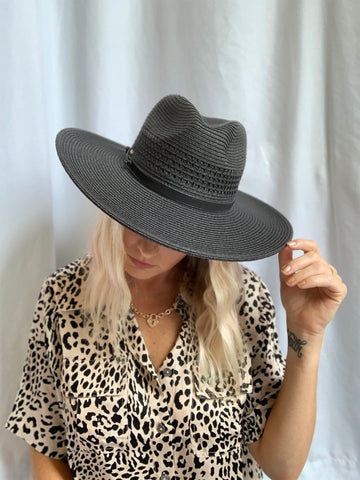 San Diego Straw Hat (Black)