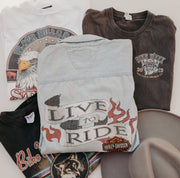 "HARLEY ""LIVE TO RIDE"" FRAYED TANK"