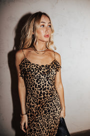 VINTAGE LEOPARD SLIP DRESS (only 1 available)