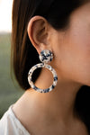 Tortoise Dangle Hoops