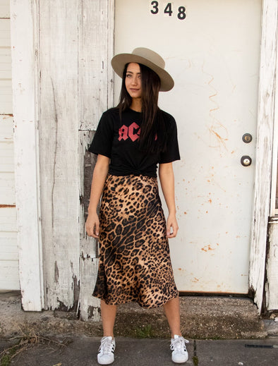 Can't Be Tamed Leopard Skirt