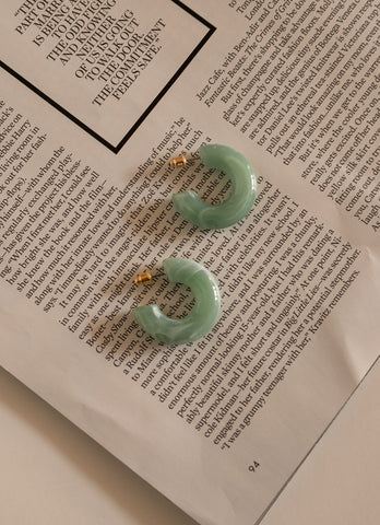 JADE MINI HOOPS