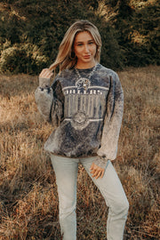90's Acid Wash Cowboys Sweatshirt