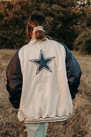 COWBOYS SATIN BOMBER JACKET