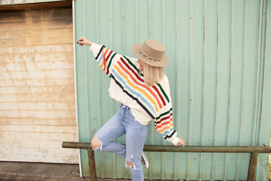 Rainbow Striped Pullover 🌈