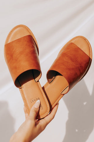 Timeless Faux Leather Slides