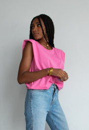 Blogger Style Tank (Pink)