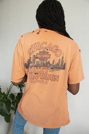 Chicago Distressed Harley Tee
