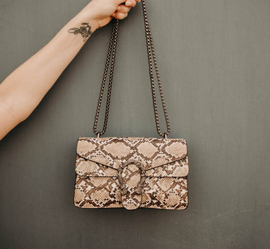 Designer Vibes Snakeskin Purse (1 LEFT)