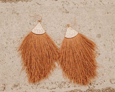 Whiskey Fringe Earrings
