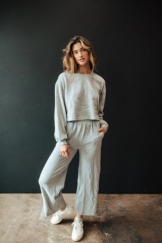 AT EASE SWEAT SET (GRAY)