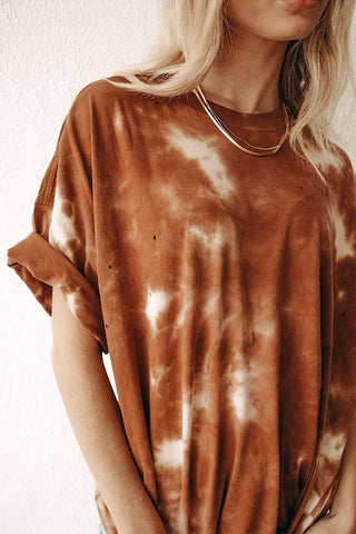 All That Tie Dye Tee (Hazelnut)