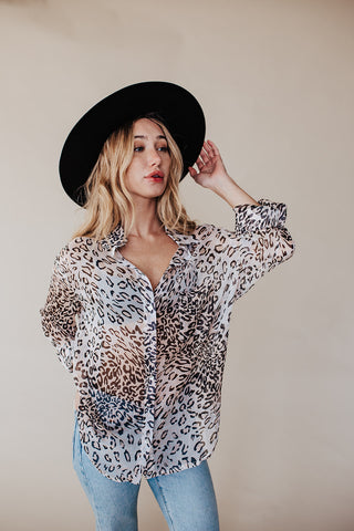 NO BRAINER LEOPARD BLOUSE