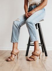 Hailey Puff Strap Mules