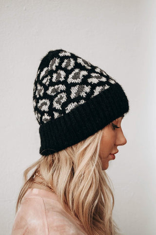 With It Leopard Beanie