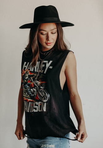 HARLEY DISTRESSED BIKER TANK