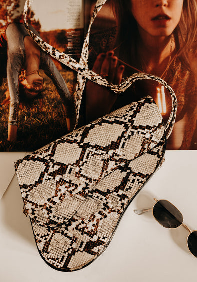 Snakeskin Saddlebag