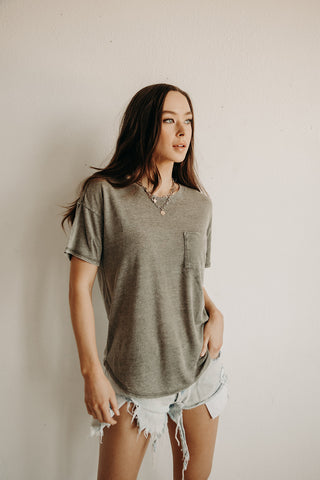 Lived-In Pocket Tee (Olive)