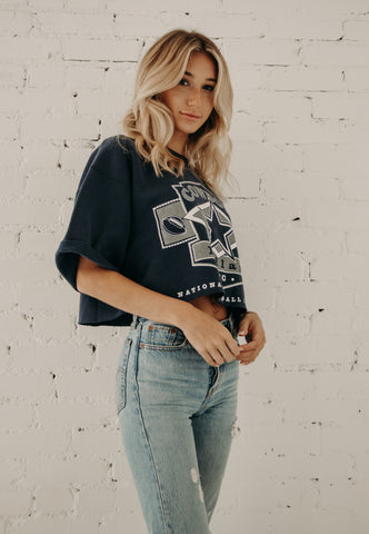 Dallas Cowboy Cropped Sweatshirt