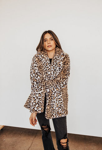 FAUX REAL LEOPARD COAT