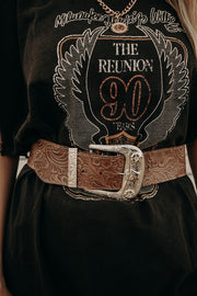 Longhorn Etched Belt