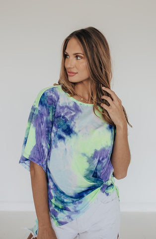 RADDER THAN YOU TIE DYE TOP