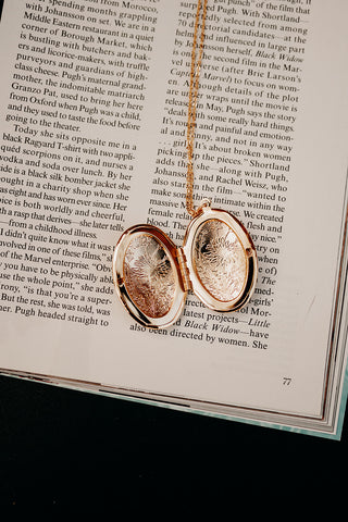 Flora Gold Locket