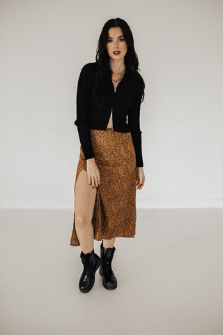 Cheetah Print Midi Skirt