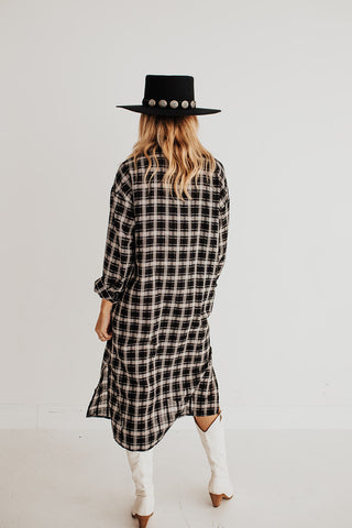 Check It Plaid Shirt Dress