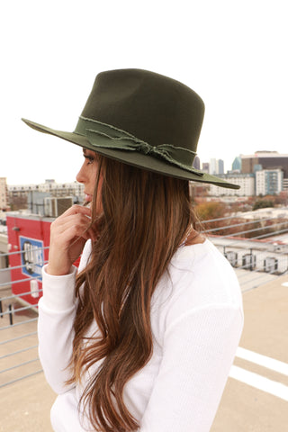 Billie Panama Hat (Olive)