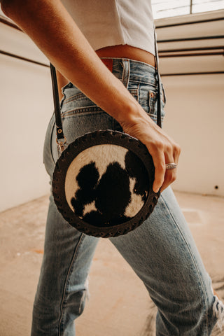 Vintage Mini Cowhide Bag