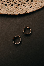 ETCHED MINI HOOPS