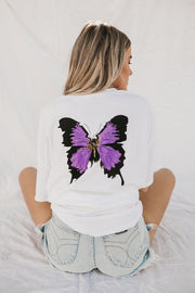 CRAZY BEAUTIFUL BUTTERFLY TEE