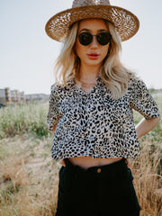 Cheetah Girl Leopard Crop
