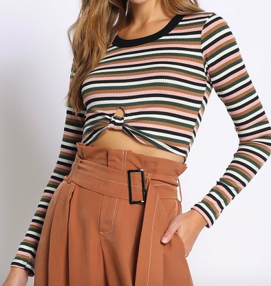 Josie Striped Crop
