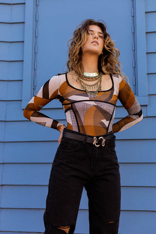 DREAM ON GEOMETRIC BODYSUIT