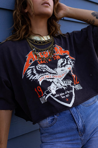 LIVE FREE CROPPED TEE